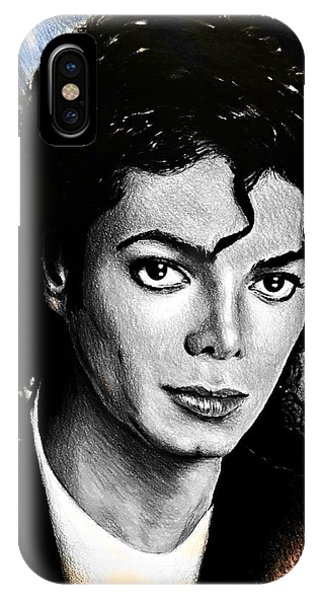 Coloured Pencil iPhone Case - Michael Jackson Stamp Design by Andrew Read