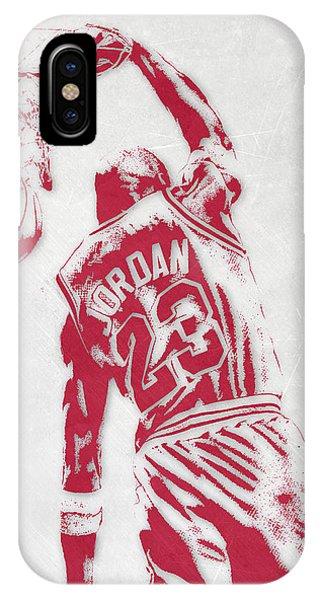 Michael Jordan Chicago Bulls Pixel Art 1 IPhone Case