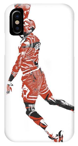 Tickets iPhone Case - Michael Jordan Chicago Bulls Pixel Art 11 by Joe Hamilton
