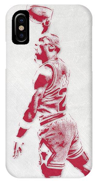 Michael Jordan Chicago Bulls Pixel Art 3 IPhone Case
