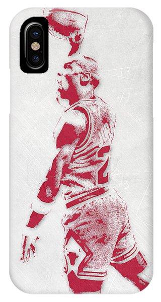 Tickets iPhone Case - Michael Jordan Chicago Bulls Pixel Art 3 by Joe Hamilton