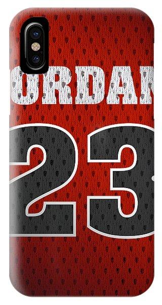 Michael Jordan Chicago Bulls Retro Vintage Jersey Closeup Graphic Design IPhone Case
