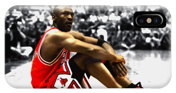 c7bab48a73c6 Jumpman iPhone Case - Michael Jordan Preparing For Take Off by Brian Reaves
