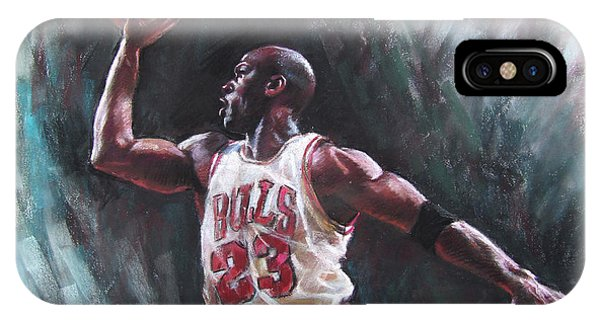 Bull iPhone Case - Michael Jordan by Ylli Haruni