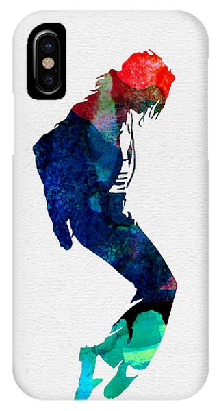 Michael Jackson iPhone Case - Michael Watercolor by Naxart Studio