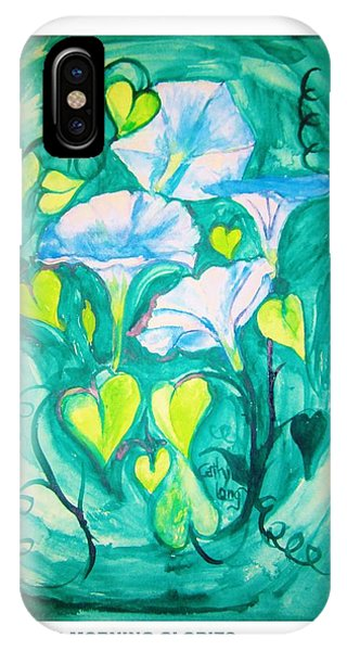Micheal's Morning Glories IPhone Case