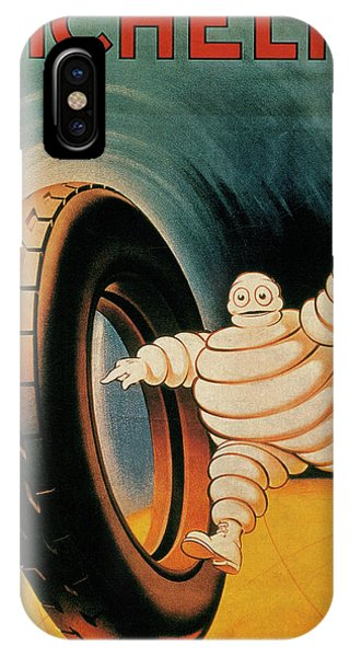 French iPhone Case - Michelin Tires Vintage Art Poster by Design Turnpike