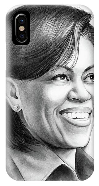 United States Presidents iPhone Case - Michelle Obama by Greg Joens