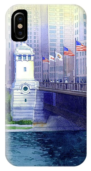 Michigan Avenue Bridge IPhone Case