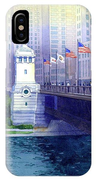 Michigan Avenue Bridge IPhone Case