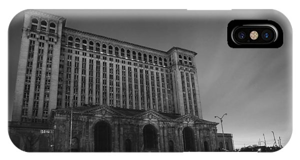 Michigan Central Station At Midnight IPhone Case