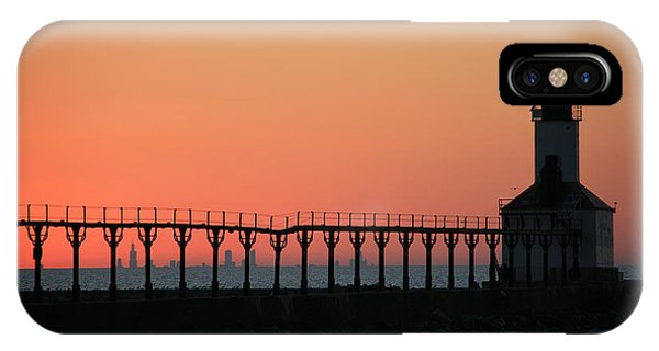 Michigan City East Pier Lighthouse IPhone Case