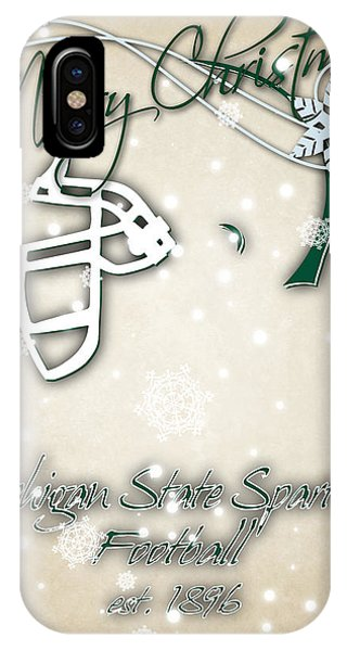 Michigan State iPhone Case - Michigan State Spartans Christmas Card 2 by Joe Hamilton