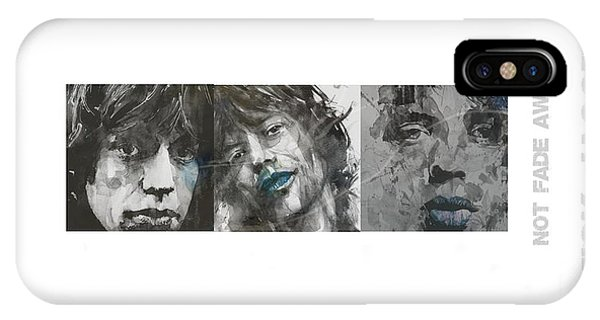 Legends Music iPhone Case - Mick Jagger Triptych by Paul Lovering
