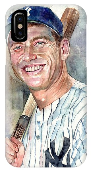 Blues Legends iPhone Case - Mickey Mantle Portrait by Suzann's Art