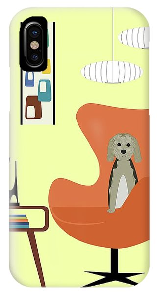 Mid Century Modern Dogs 3 IPhone Case
