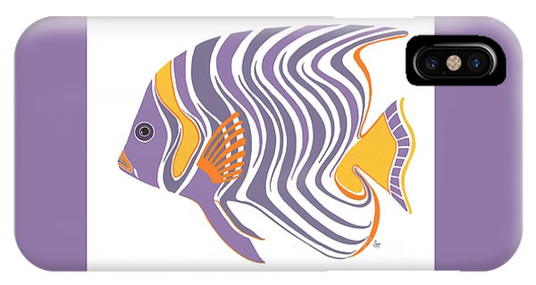 Mid Century Purple Fish IPhone Case