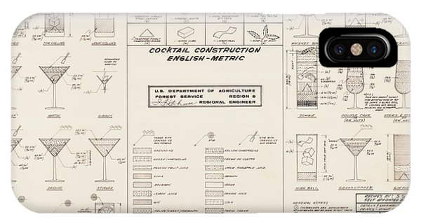 Swanky iPhone Case - Mid Century Retro Vintage Cocktail Construction Chart by Kathy Hunt