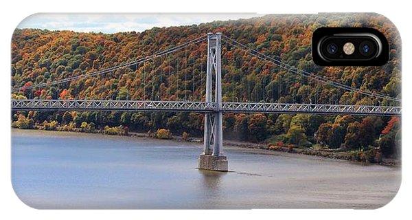 Mid Hudson Bridge In Autumn IPhone Case