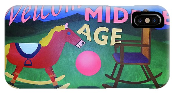 Middle Age Birthday Card IPhone Case