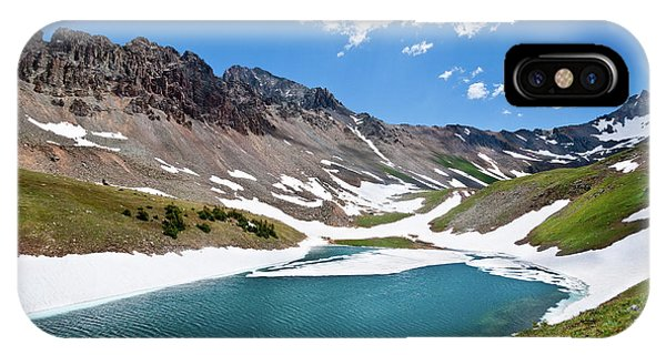 Middle Blue Lake IPhone Case