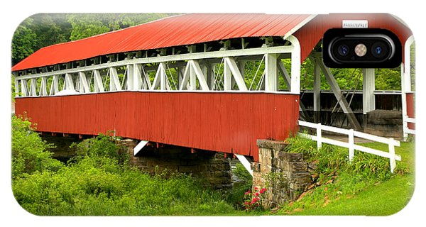 Somerset County iPhone Case - Middle Creek Township Covered Bridge by Adam Jewell