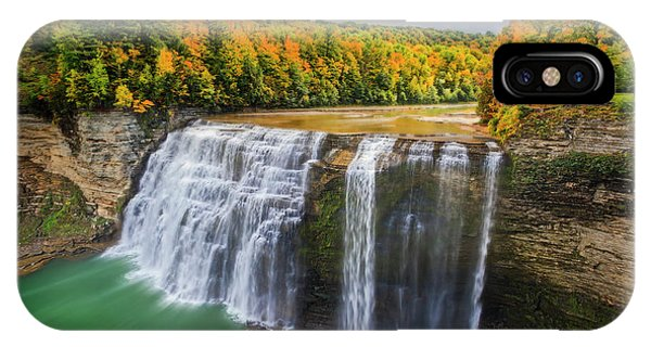 Middle Falls Letchworth State Park IPhone Case