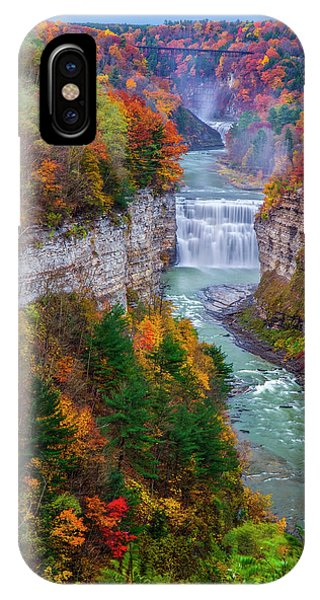 Middle Falls Of Letchworth State Park IPhone Case