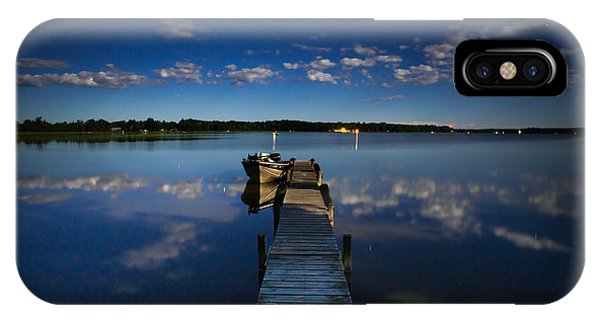 Midnight At Shady Shore On Moose Lake Minnesota IPhone Case