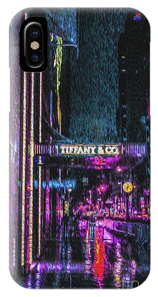 Midnight At Tiffany Painting IPhone Case