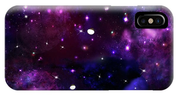 Midnight Blue Purple Galaxy IPhone Case