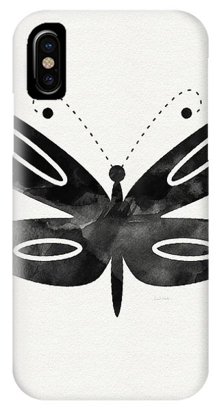 Insects iPhone Case - Midnight Butterfly 1- Art By Linda Woods by Linda Woods