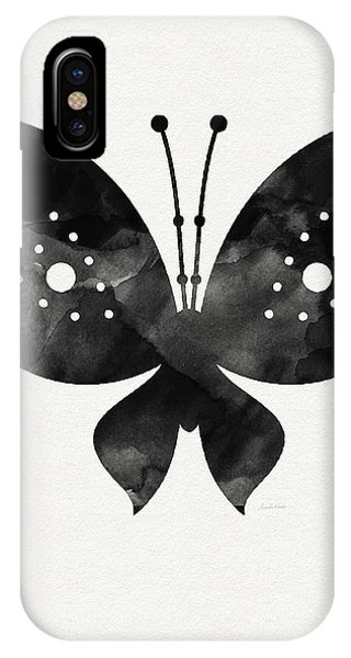 Insects iPhone Case - Midnight Butterfly 2- Art By Linda Woods by Linda Woods