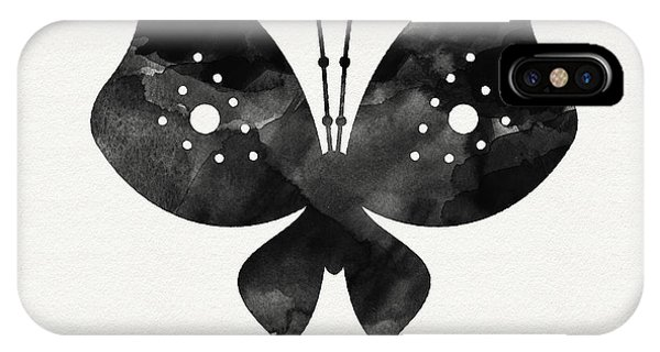 Insect iPhone Case - Midnight Butterfly 2- Art By Linda Woods by Linda Woods