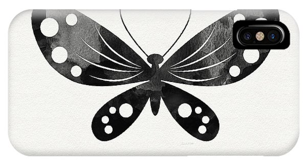 Insect iPhone Case - Midnight Butterfly 3- Art By Linda Woods by Linda Woods