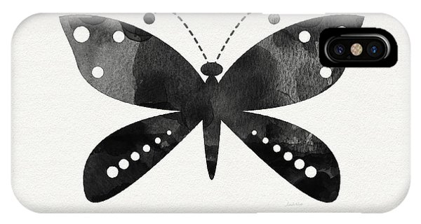 Insect iPhone Case - Midnight Butterfly 4- Art By Linda Woods by Linda Woods