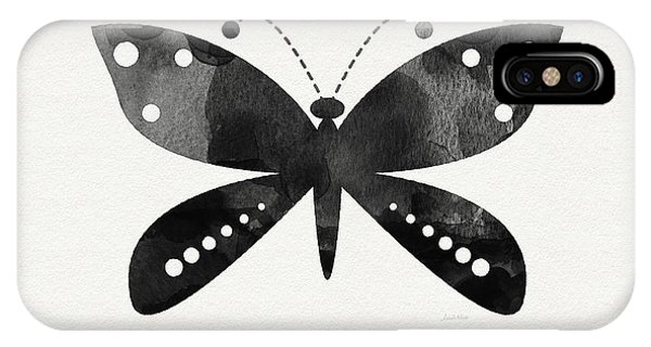 Insects iPhone Case - Midnight Butterfly 4- Art By Linda Woods by Linda Woods