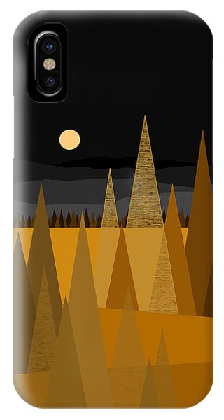 Midnight Gold IPhone Case