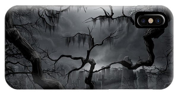 Midnight In The Graveyard II IPhone Case