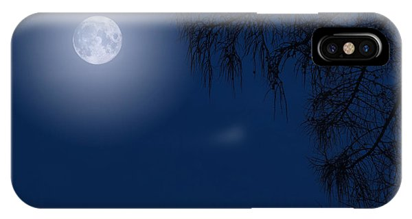 Midnight Moon And Night Tree Silhouette IPhone Case
