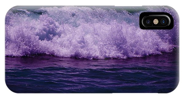 Midnight Ocean Wave In Ultra Violet IPhone Case