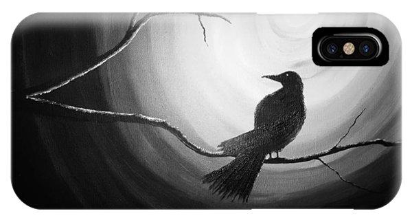 Midnight Raven Noir IPhone Case