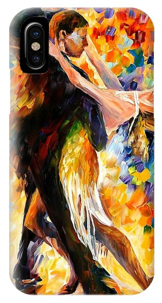 Afremov iPhone X Case - Midnight Tango by Leonid Afremov