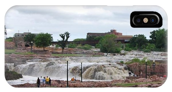 IPhone Case featuring the photograph Mighty Sioux Falls by Judy Hall-Folde