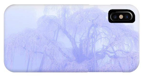 Miharu Takizakura Weeping Cherry01 IPhone Case