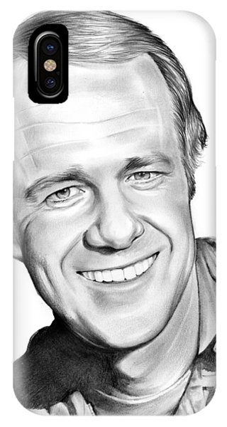 Mike iPhone Case - Mike Farrell by Greg Joens