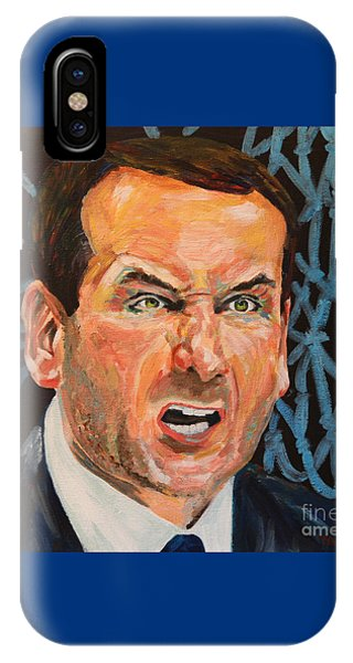 Condo iPhone Case - Mike Krzyzewski Aka Coach K Portrait by Robert Yaeger