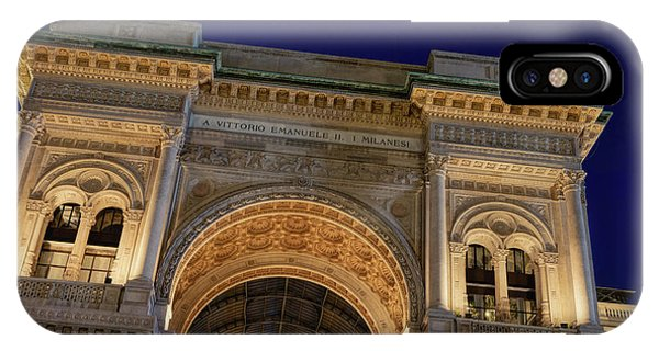 Window Shopping iPhone Case - Milan Galleria Night by Joan Carroll