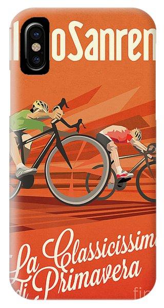 Cycling iPhone Case - Milan San Remo by Sassan Filsoof
