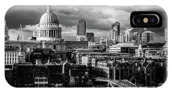 Milennium Bridge And St. Pauls, London IPhone Case
